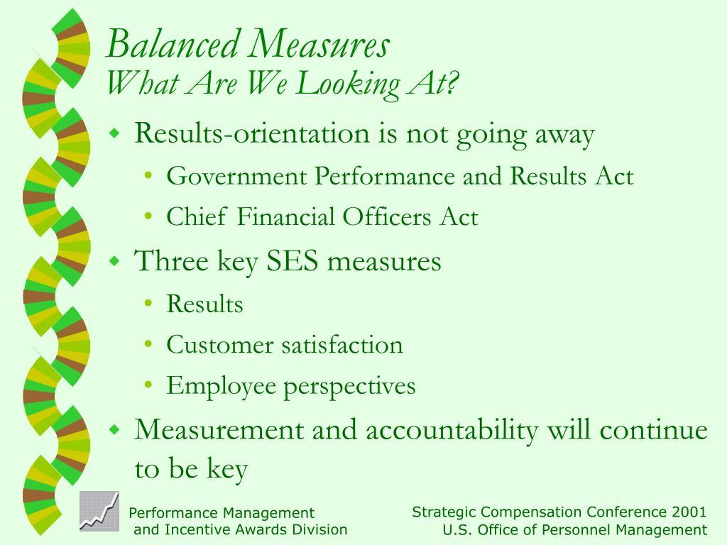Balanced Measures