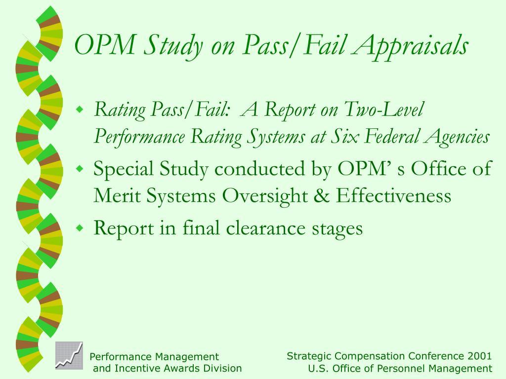 OPM Study on Pass/Fail Appraisals