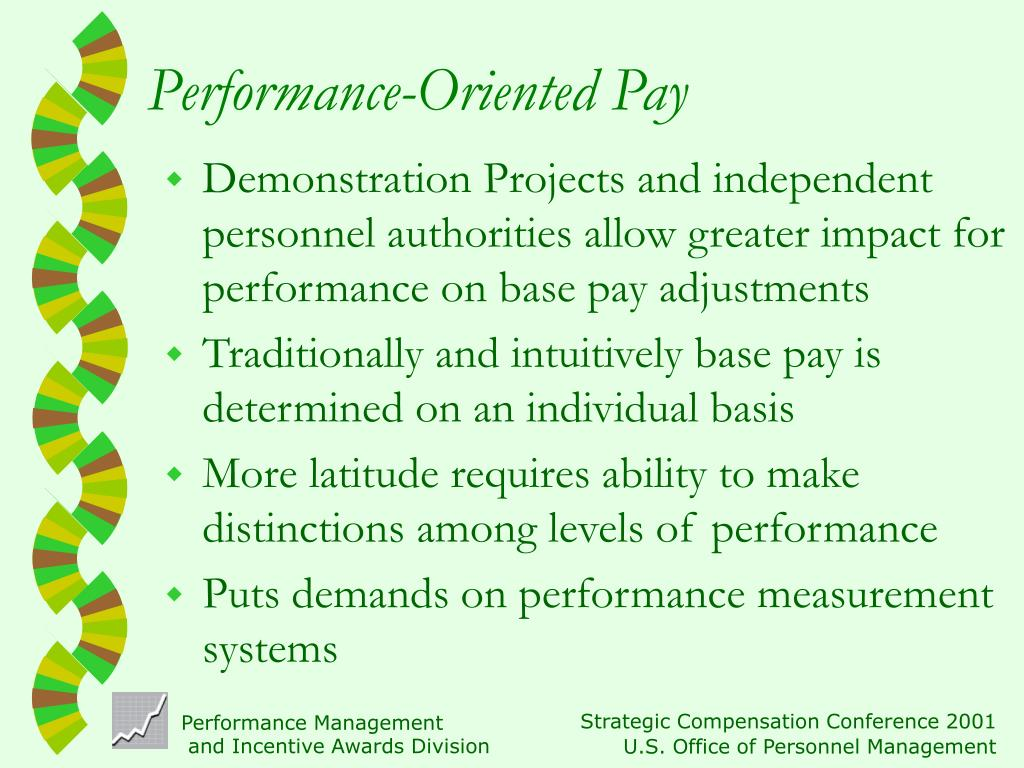 Performance-Oriented Pay