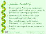 performance oriented pay