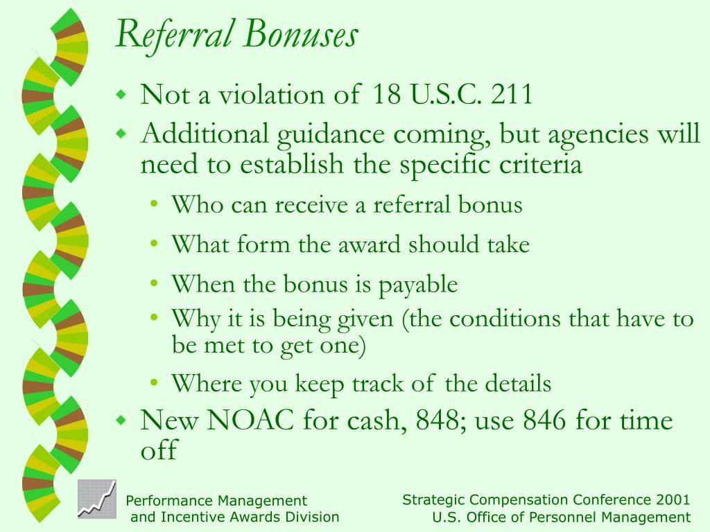 Referral Bonuses