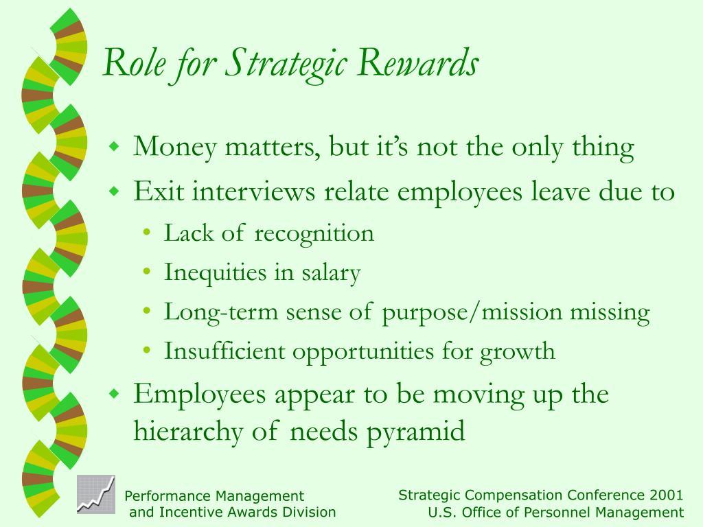 Role for Strategic Rewards