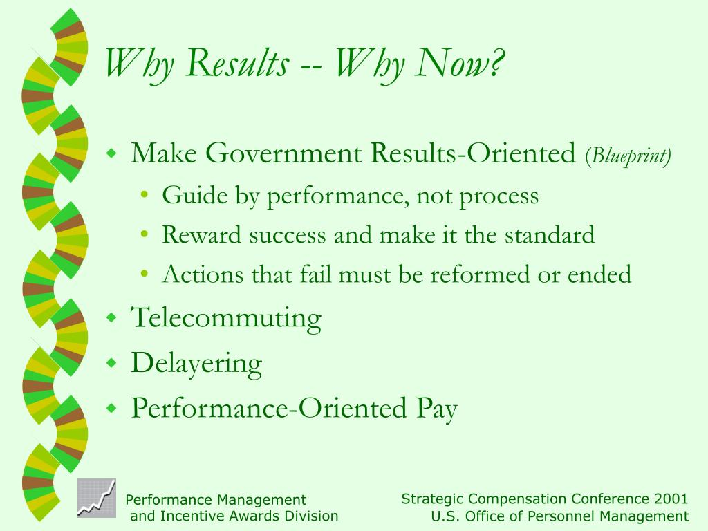 Why Results -- Why Now?