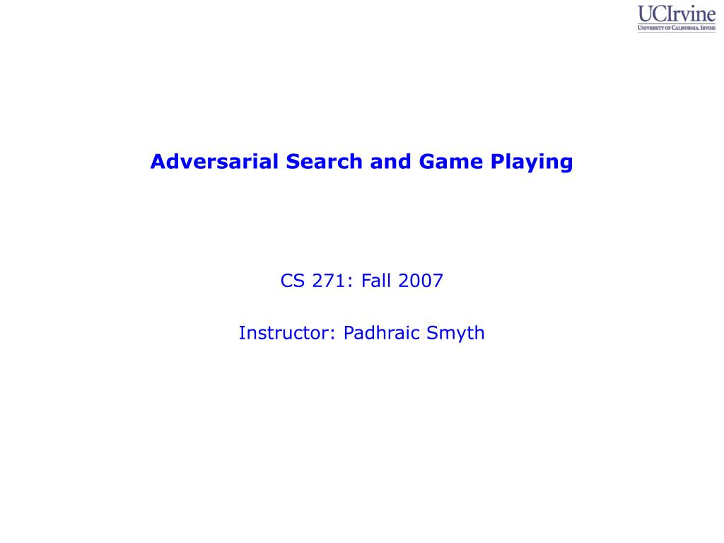 adversarial search and game playing l.