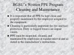 bgsu s written ppe program cleaning and maintenance