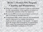 bgsu s written ppe program cleaning and maintenance21