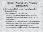 bgsu s written ppe program introduction8