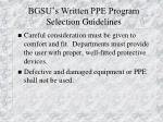 bgsu s written ppe program selection guidelines17