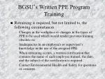 bgsu s written ppe program training19