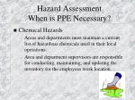hazard assessment when is ppe necessary26