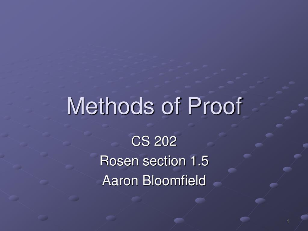 methods of proof l.