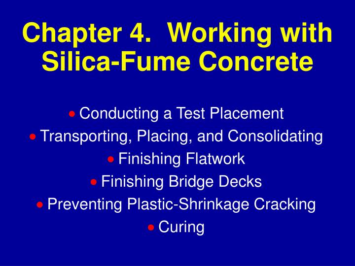 chapter 4 working with silica fume concrete n.