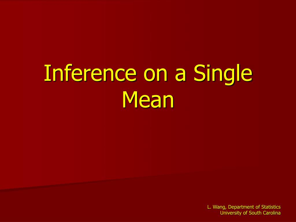 inference on a single mean l.