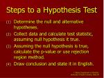 steps to a hypothesis test
