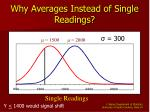 why averages instead of single readings10