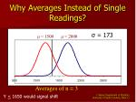 why averages instead of single readings11