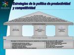 estrategias de la pol tica de productividad y competitividad