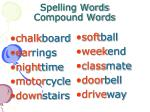 spelling words compound words50