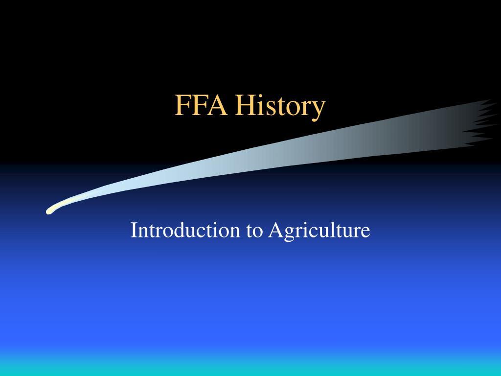 ffa history l.