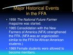 major historical events in the ffa6