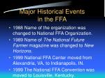 major historical events in the ffa7