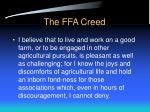 the ffa creed22