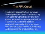 the ffa creed23