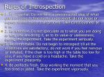 rules of introspection
