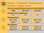 object oriented middleware system comparisons5