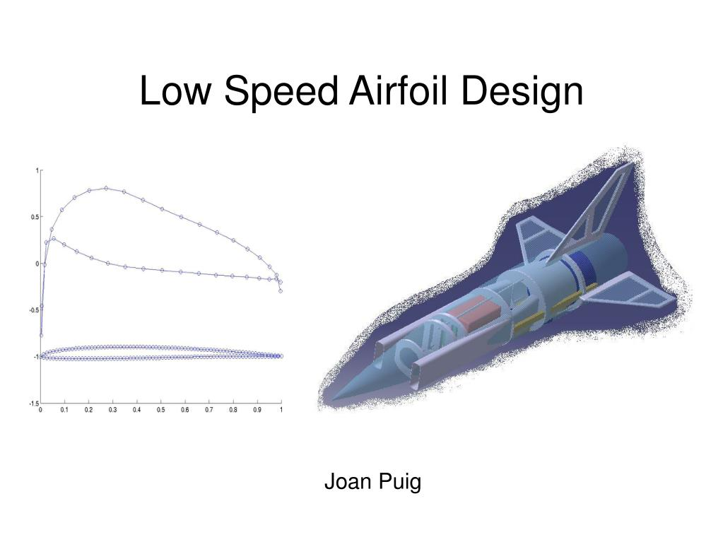 low speed airfoil design l.