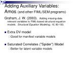 adding auxiliary variables amos and other fiml sem programs