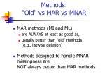 methods old vs mar vs mnar