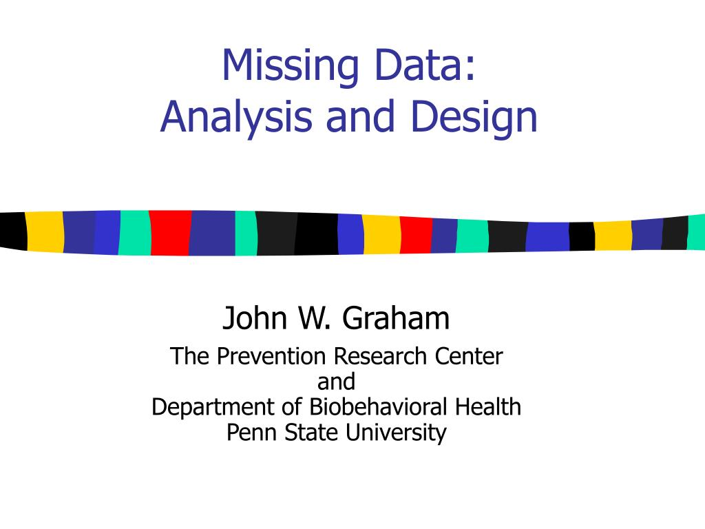 missing data analysis and design l.