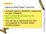 open as web folder function