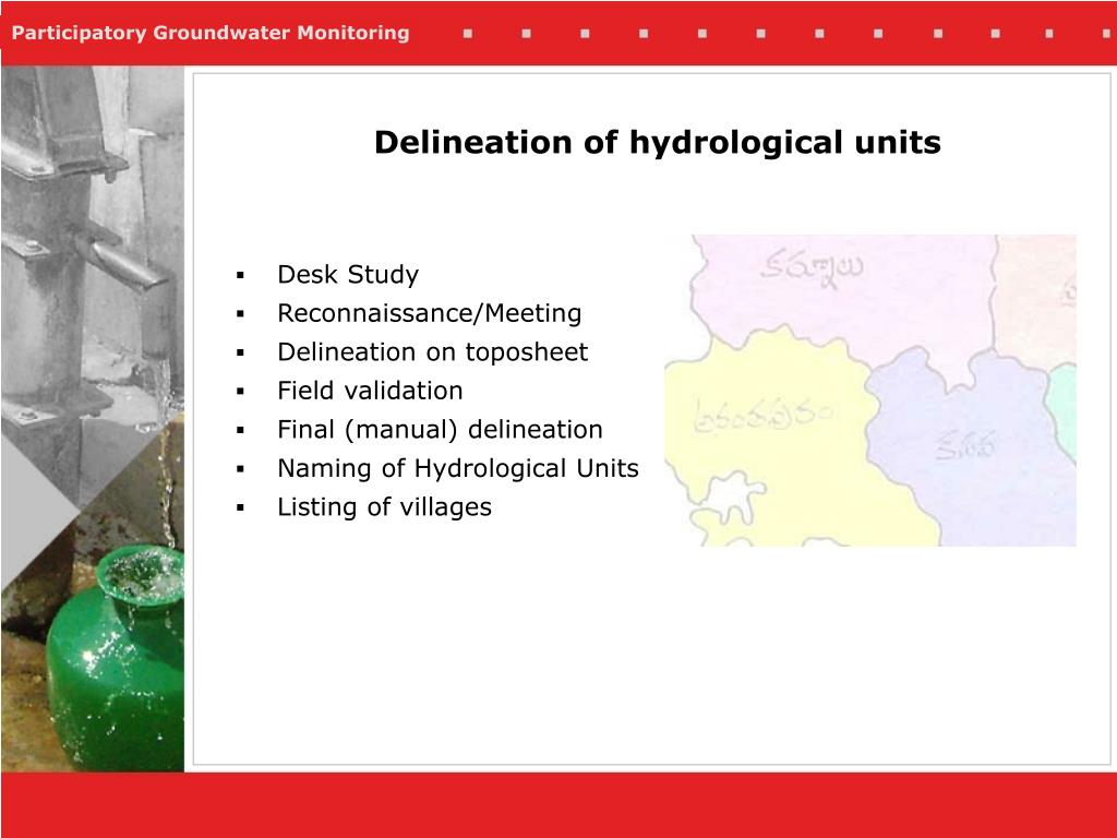 Delineation of hydrological units