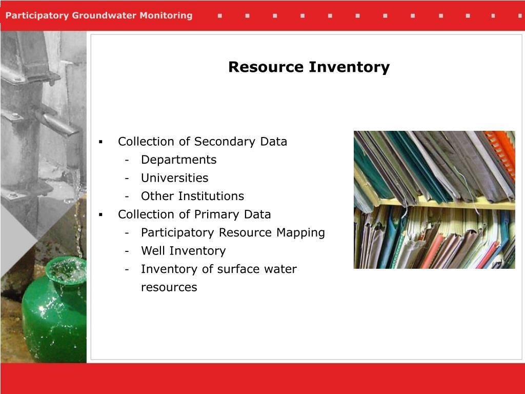 Resource Inventory