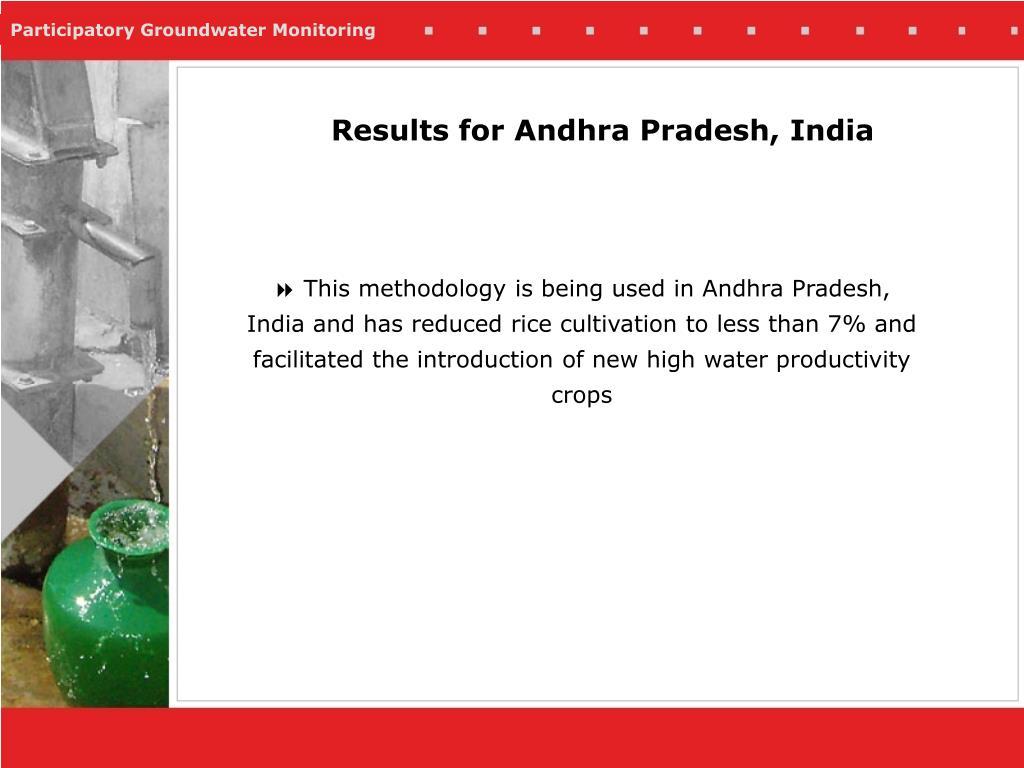 Results for Andhra Pradesh, India