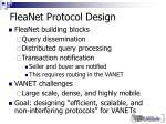 fleanet protocol design
