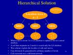 hierarchical solution