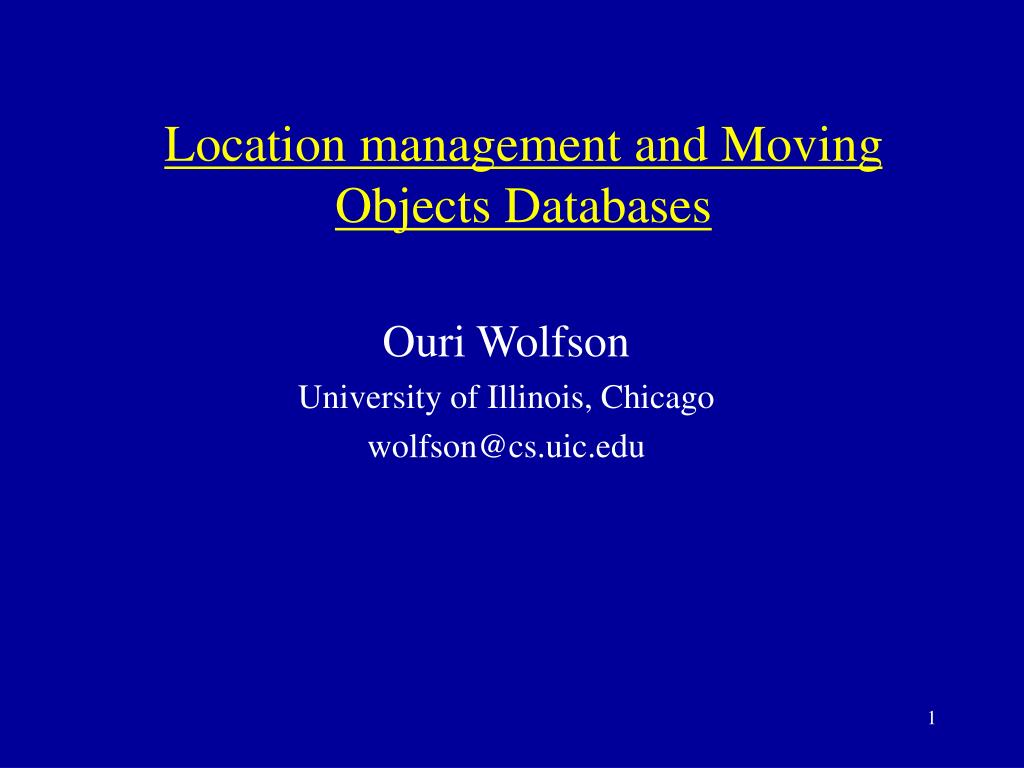 location management and moving objects databases l.