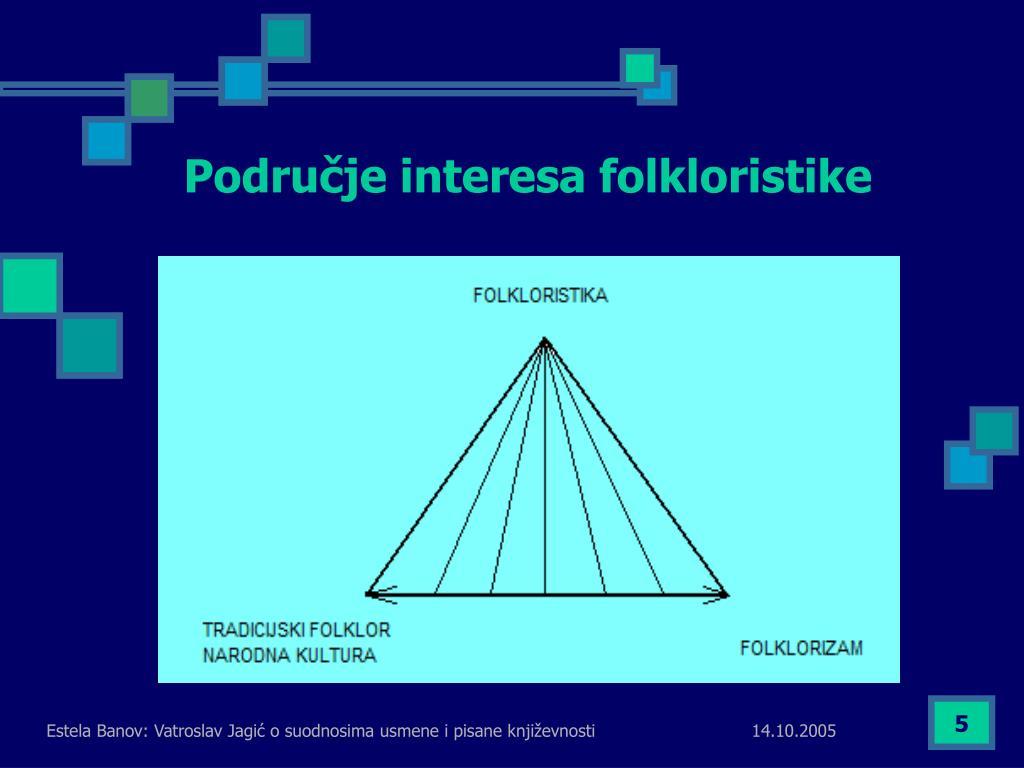 Područje interesa folkloristike