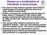 disease as a manifestation of individuals in social groups14