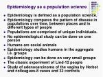 epidemiology as a population science