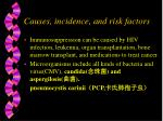 causes incidence and risk factors