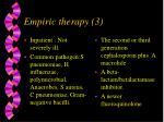 empiric therapy 3