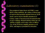 laboratory examinations 1