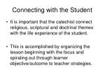 connecting with the student