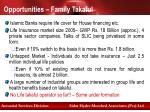opportunities family takaful