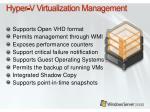 hyper v virtualization management
