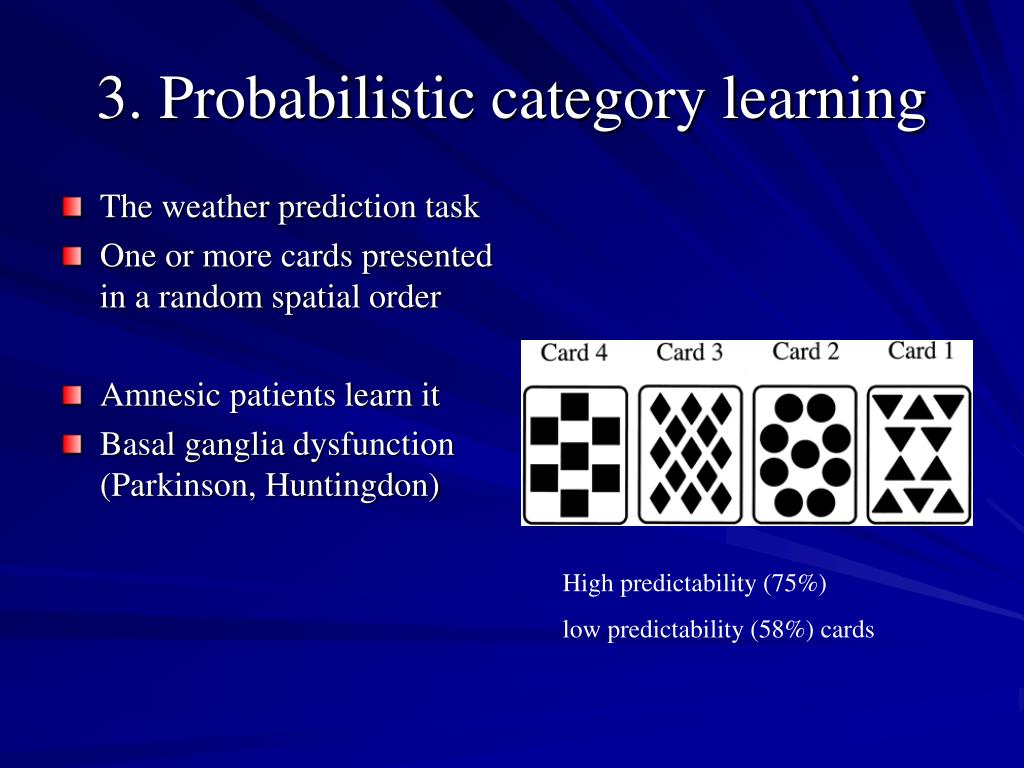 3. Probabilistic category learning